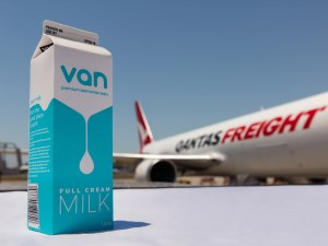 The ultimate milk run: Qantas Freight to deliver from Tassie to China article image